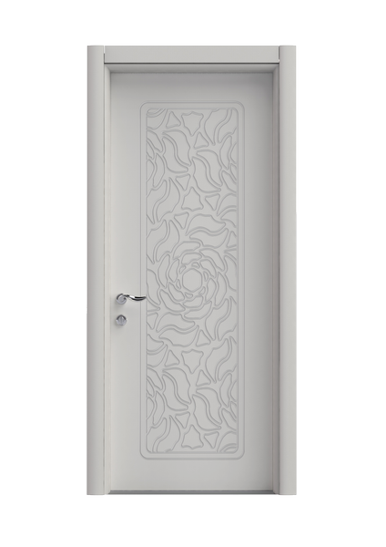 Gül Beyaz Pvc Kapı